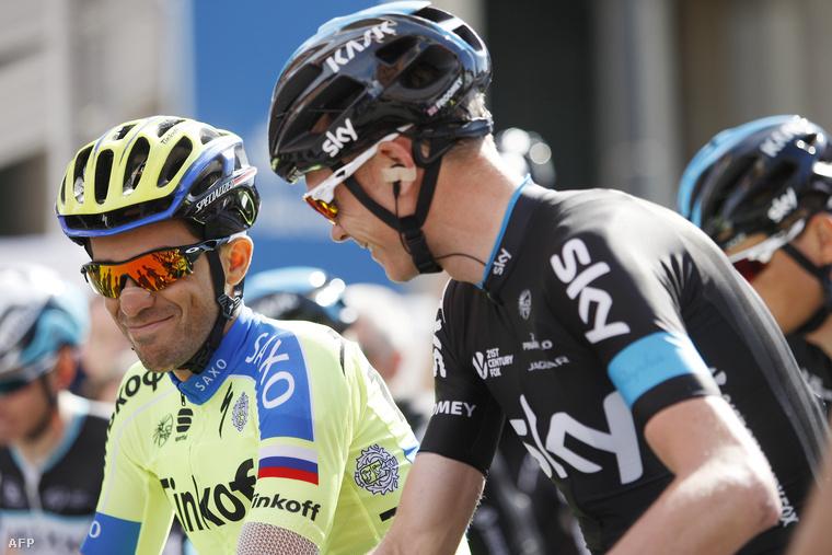 Alberto Contador és Christopher Froome