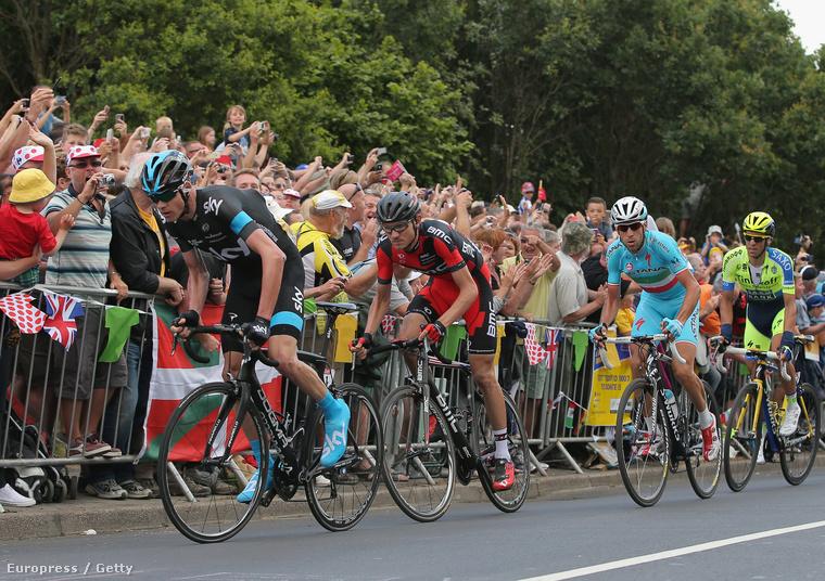 Chris Froome, Tejay van Garderen, Vincenzo Nibali és Alberto Contador