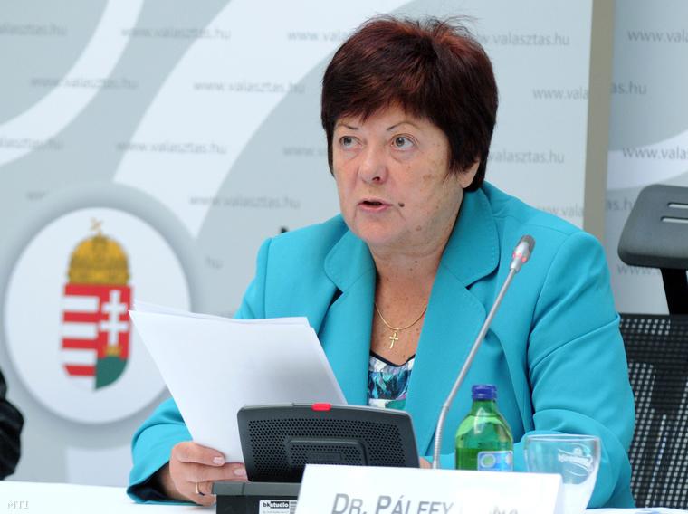 Pálffy Ilona, a Nemzeti Választási Iroda elnöke