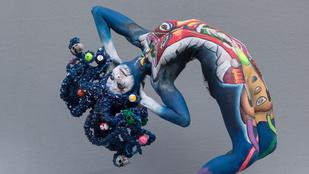 Gyönyörű női testekre festettek a Testfestő világbajnokságon
