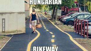 Világhírű lett az elcseszett szombathelyi bicikliút