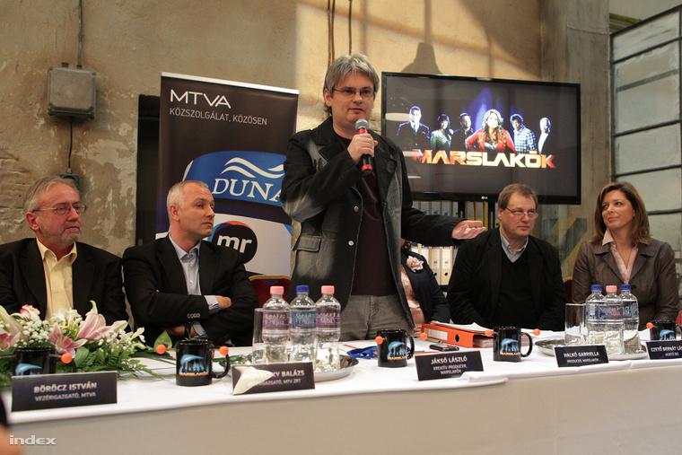 Az induló Marslakók sajtótájékoztatója 2012-ben.