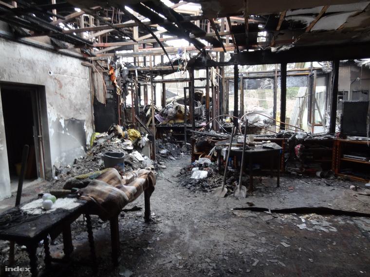 A ház a tűz után