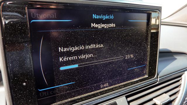 Szép és profi az Audi navigációja, de a dugóról nem vesz tudomást
