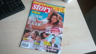 Rendkívüli lapszemle: bikinis Varga Izabella a Story címlapján!