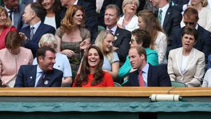 Ember annyira még nem örült teniszmeccsnek, mint Katalin hercegné
