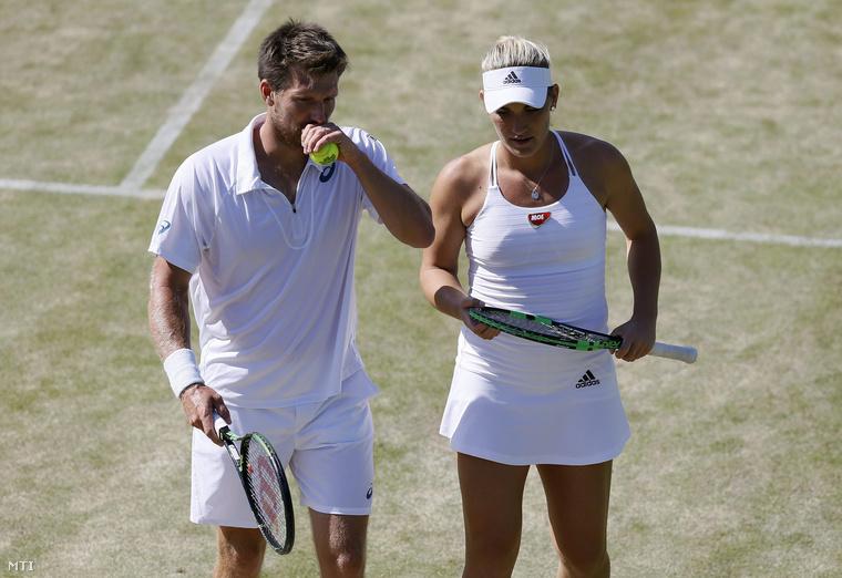 Babos Tímea és az osztrák Alexander Peya az angol nemzetközi teniszbajnokság vegyespárosok negyeddöntőjében