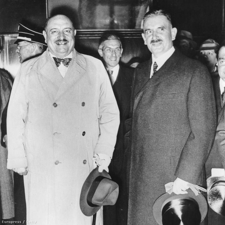 Rust Bernhard német oktatási miniszter és Hóman Bálint 1936-ban, Berlinben.