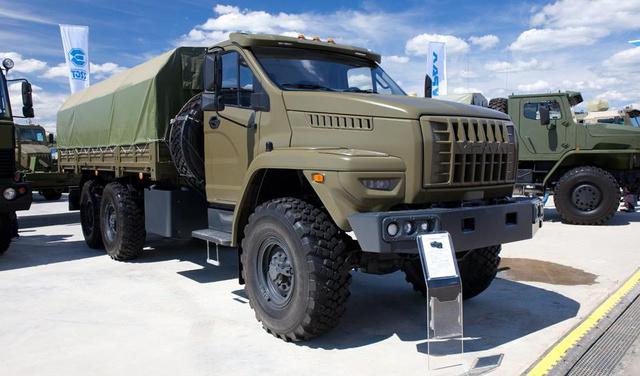 A katonai vagyis, ahogy az URAL-nál hívják Military változat (fotó: defence-blog.com)