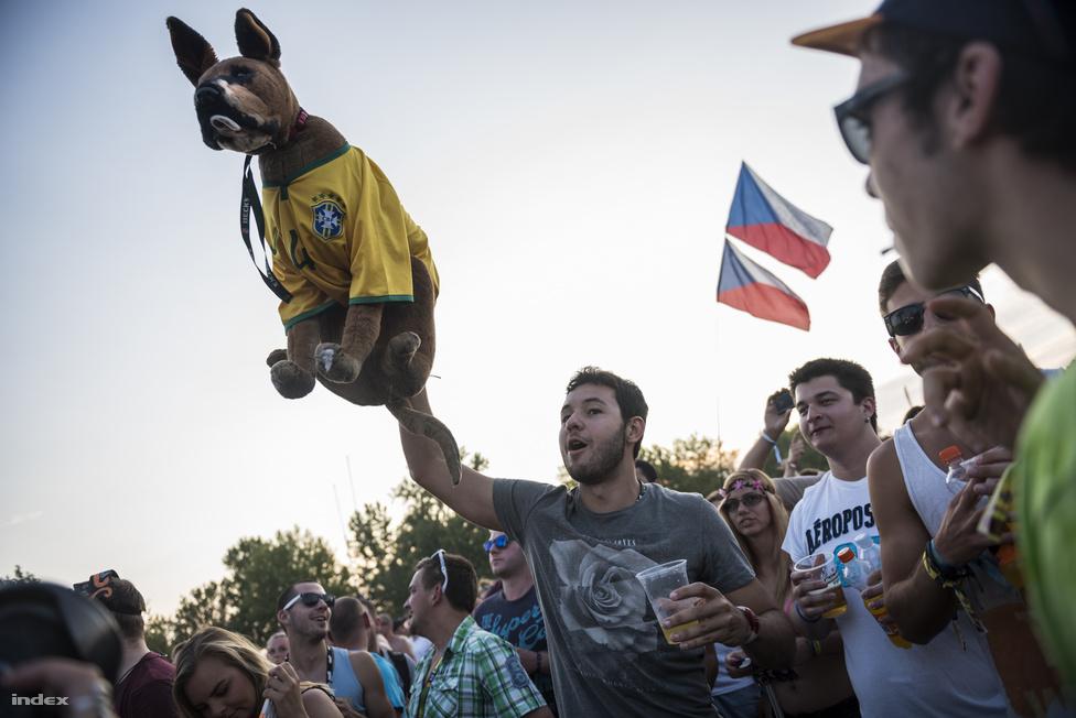 Azért a színpadról baromi ijesztő lehet azt látni, hogy valaki a seggénél fogva emelgeti a kutyáját a legújabb mai slágerekre. Pláne brazil focimezben.