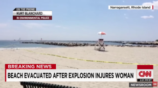 Rejtélyes robbanásban sérült meg egy fürdőző Rhode Island partjainál