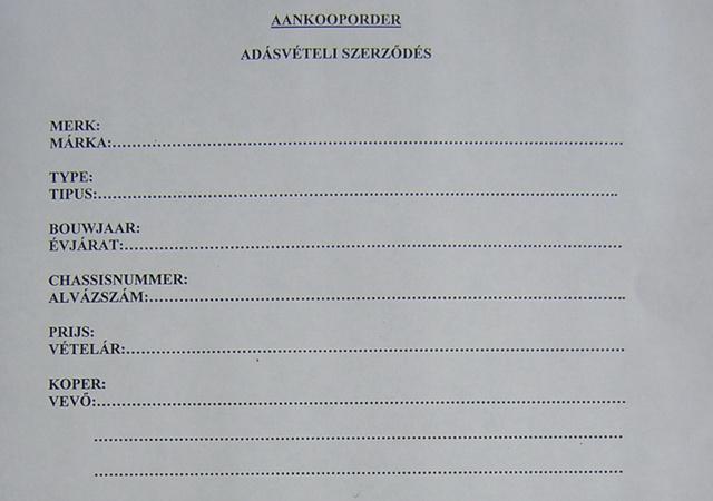 Egy belga-magyar kétnyelvű adásvételi. Talán ránézésre is értik, hogy ennek nincs sok értelme