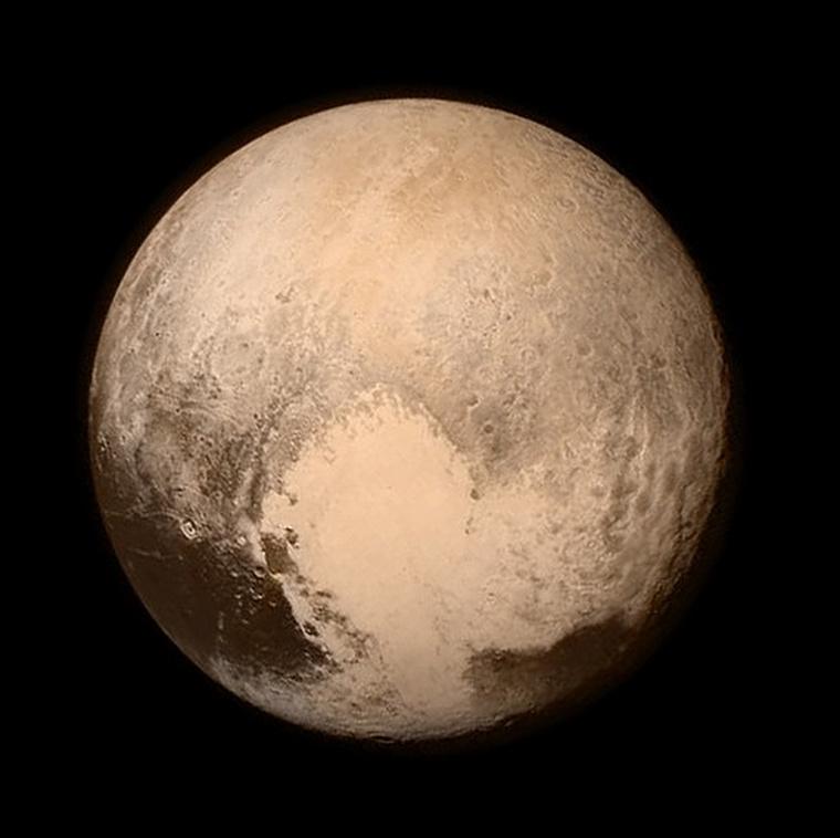 A New Horizons keddi fotója a Plútóról. A NASA először Instagramon osztotta meg a fotót