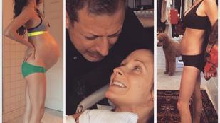 Jeff Goldblum felesége a szülés utáni alakjával sokkolja a népet