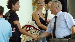 Heidi Klum Rómában vadít
