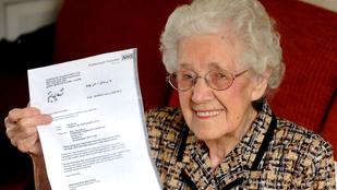 99 évesen tudta meg, hogy terhes