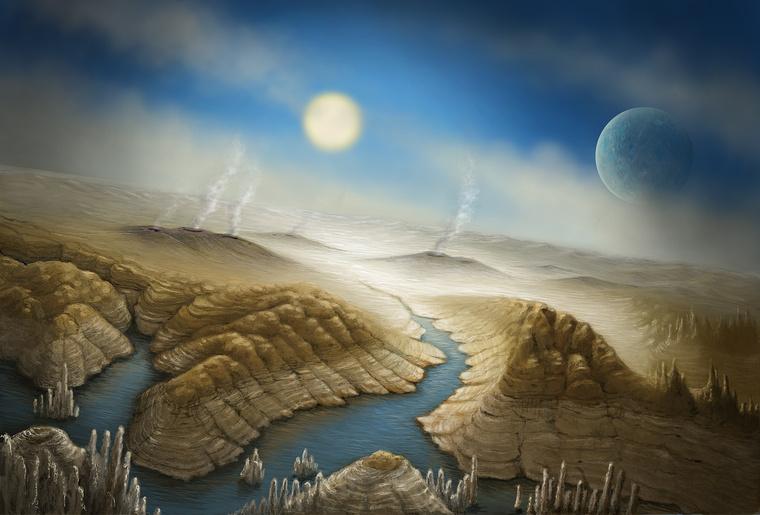 Fantáziarajz a bolygó felszínéről