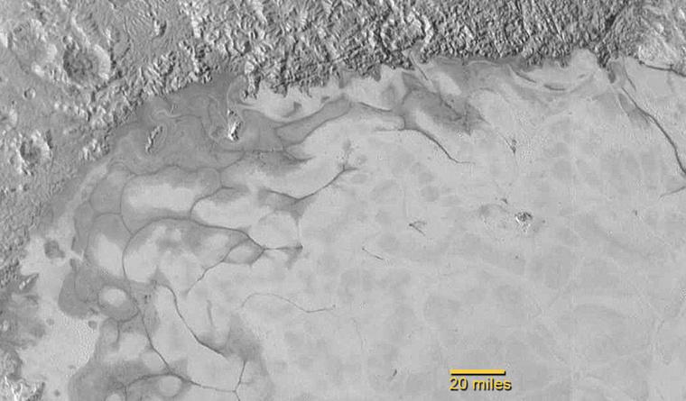 Nitrogénjég a Plútó felszínén