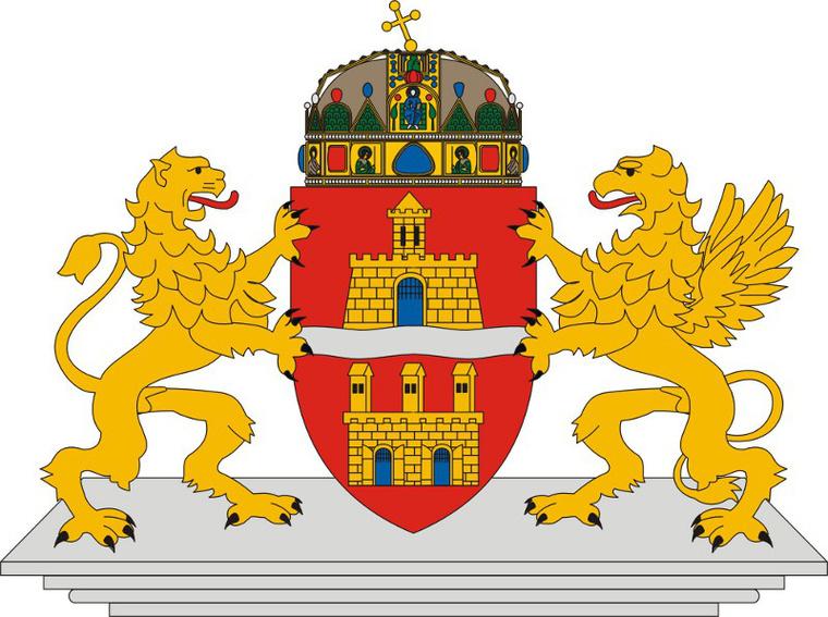 Budapest mai, 1990-ben elfogadott címere