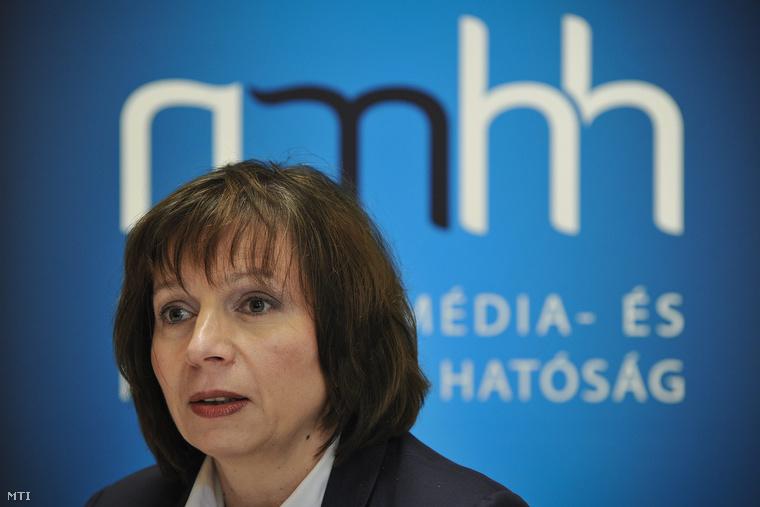 Karas Monika, a Nemzeti Média- és Hírközlési Hatóság (NMHH) elnöke.