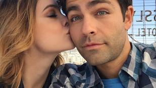 Palvin Barbara celebférfit csókolgatott