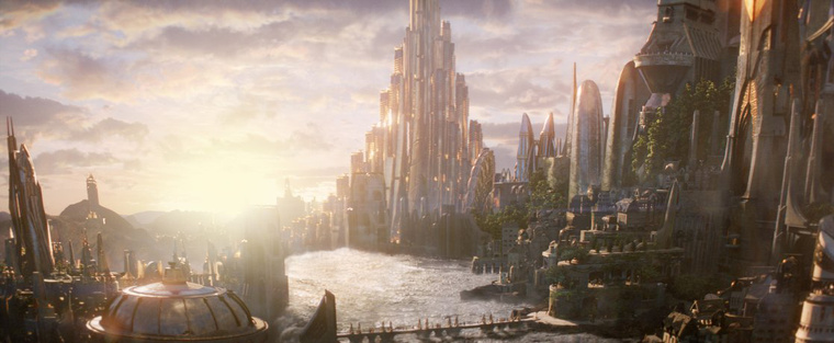 Asgardi tájkép a Thor 2: Sötét világból