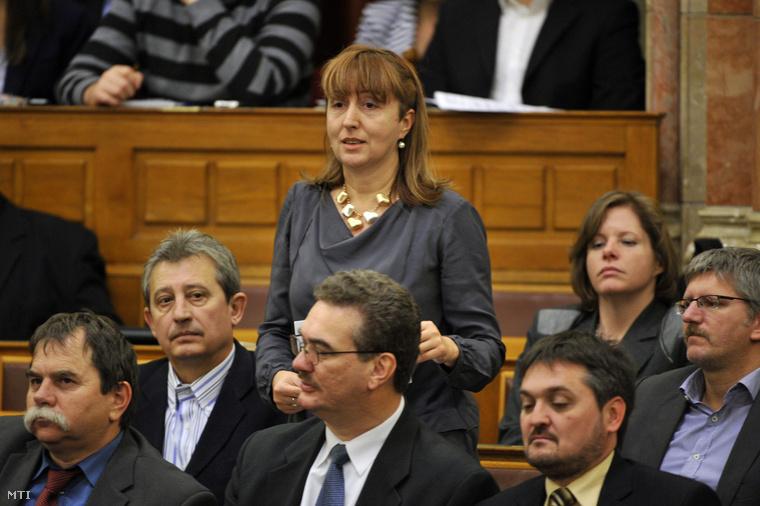 Talabér Márta az Országgyűlés plenáris ülésén