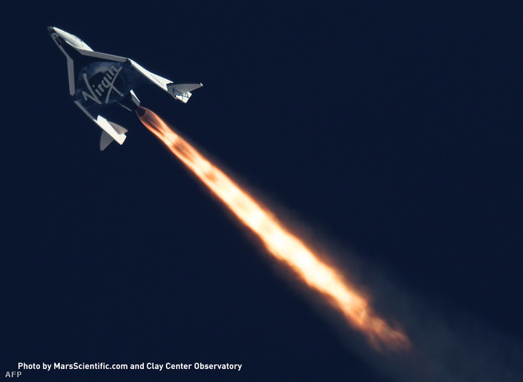 A Spaceshiptwo egyik 2013-as tesztrepülése