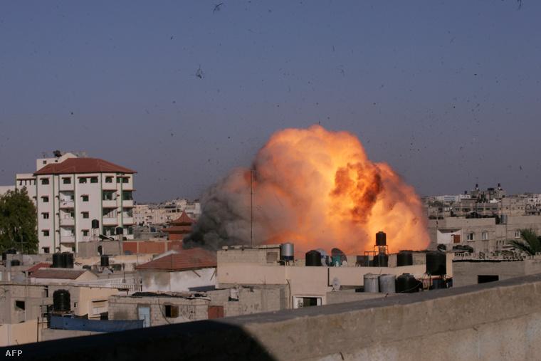 Bombázás 2014 augusztusában Rafahban