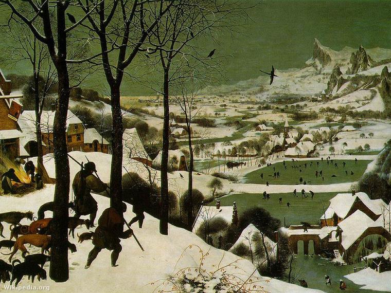 Pieter Bruegel: Vadászok a hóban
