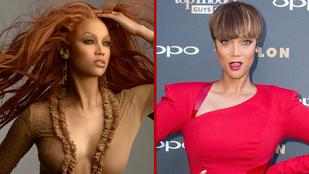 Tyra Banks feje olyan gyorsan változik, hogy alig lehet követni