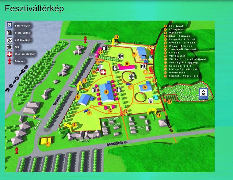 A fesztivál honlapja szerint így fog kinézni a helyszín.