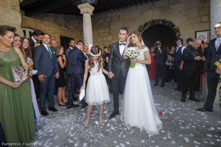 José Callejón és menyasszonya, Marta Ponsati