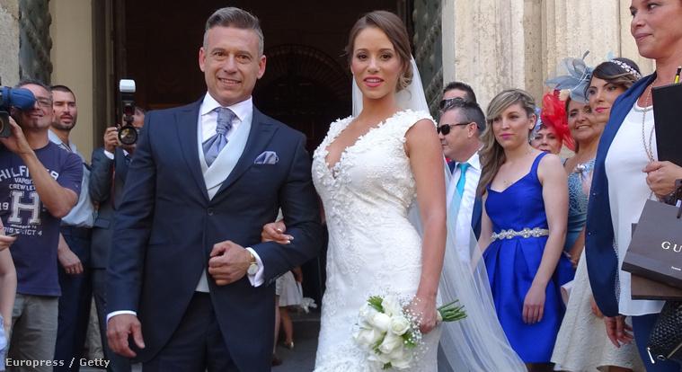 Ivan Rakitic és menyasszonya, Raquel Mauri