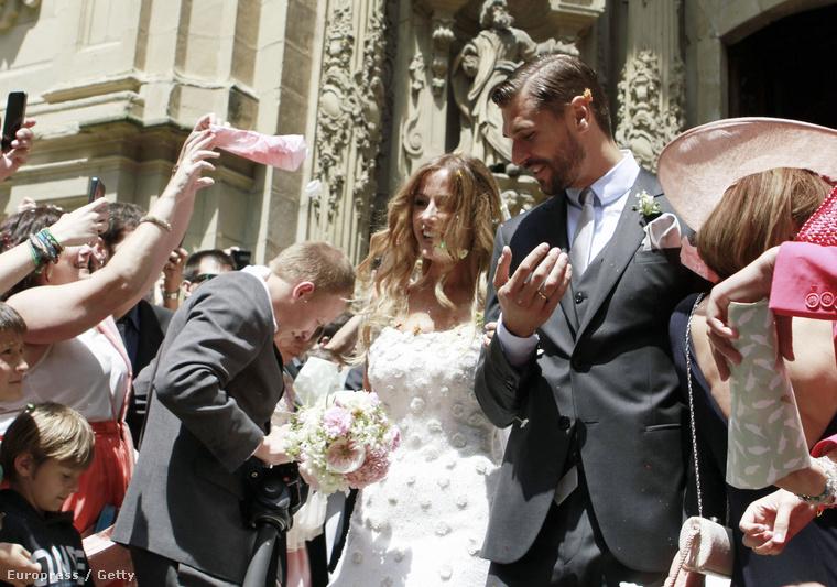 Fernando Llorente és menyasszonya, Maria Llorente
