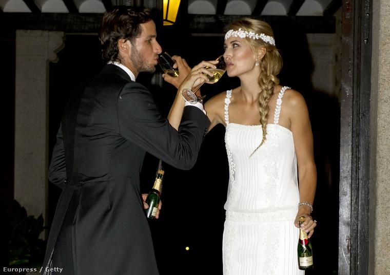 Feliciano López és menyasszonya, Alba Carillo