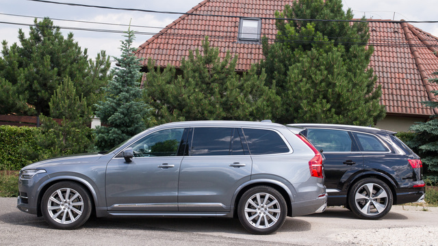 Az Audi hosszabb, de csak 10 centivel Galéria: Összehasonlító: Audi Q7 – Volvo XC90
