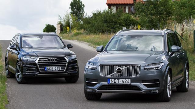 Két nagyvad, főleg az autópályák belső sávjában Galéria: Összehasonlító: Audi Q7 – Volvo XC90