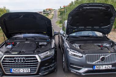 Hat henger-egy turbó (Audi - 272 LE) vagy négy henger-két turbó (Volvo - 225 LE)?