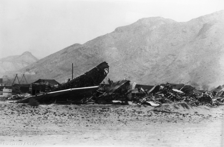 A lezuhant B52-es roncsai