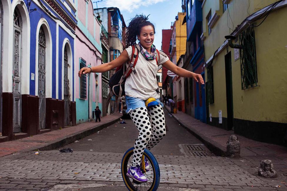 Bogota utcáin talált rá Noroc erre a lányra.