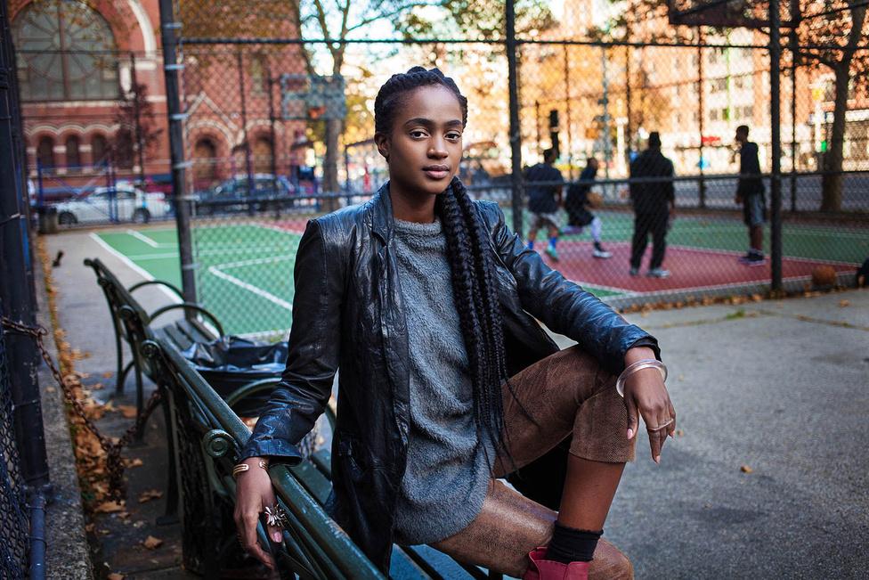 Ő itt Valeria a New York-i Harlemből.