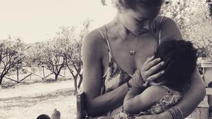 Doutzen Kroes már megint Instagramon szoptatott