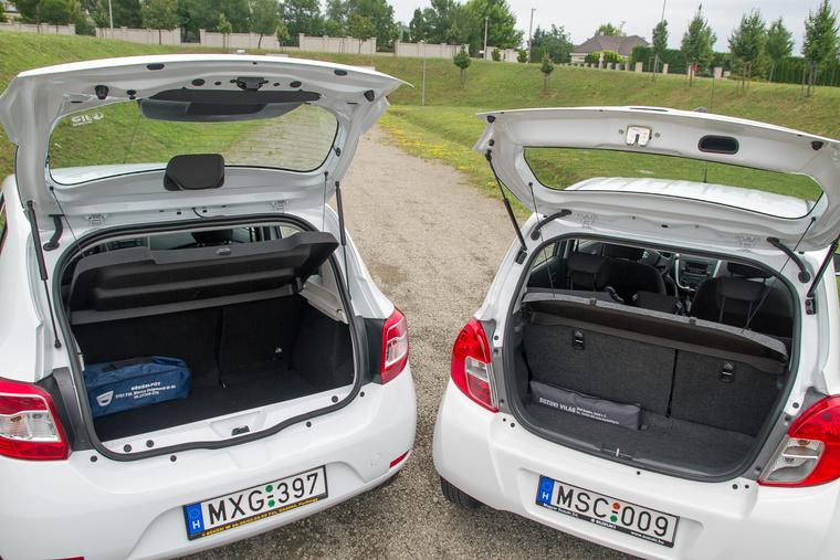 Nyilván a Dacia nyer, de mindössze hetven literrel