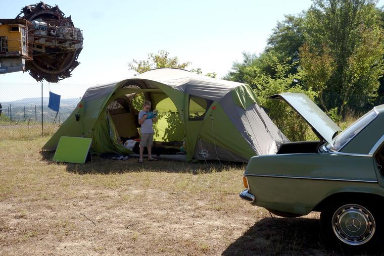 Röhejesen olcsó kempingünk Albi mellett