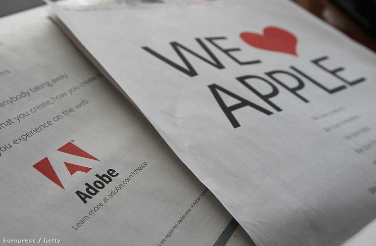 2010. május 13-án az Adobe egészoldalas szerelmeslevelet írt az Applenek a San Francisco Chronicle-ben, miután Steve Jobs ízekre szedte a Flash plugint