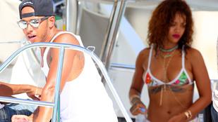 Rihanna apró tangában hergeli tovább Hamiltont