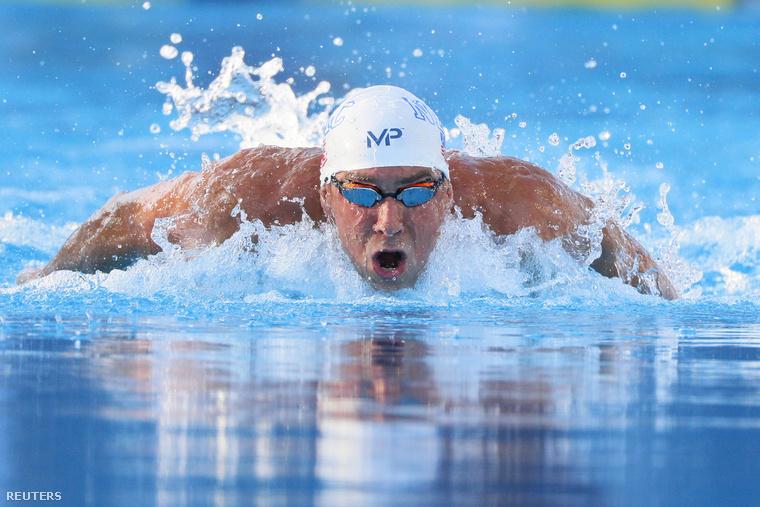 Michael Phelps San Antonióban, a 200 méteres pillangóúszás döntőjében