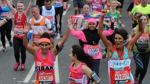Tampon nélkül futotta a maratont