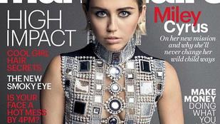 Miley Cyrus interjú mellé villantott bimbót